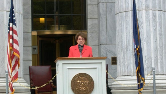 The former chief judge of NY passed away Thursday, Jan. 7, 2015. Here she speaks at Law Day in Albany in 2008
