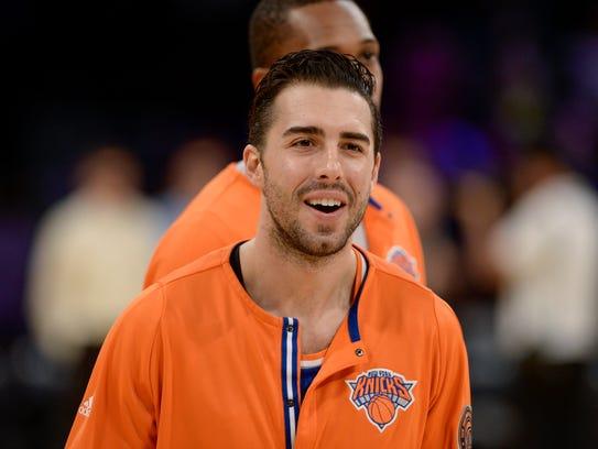 Knicks guard Sasha Vujacic.