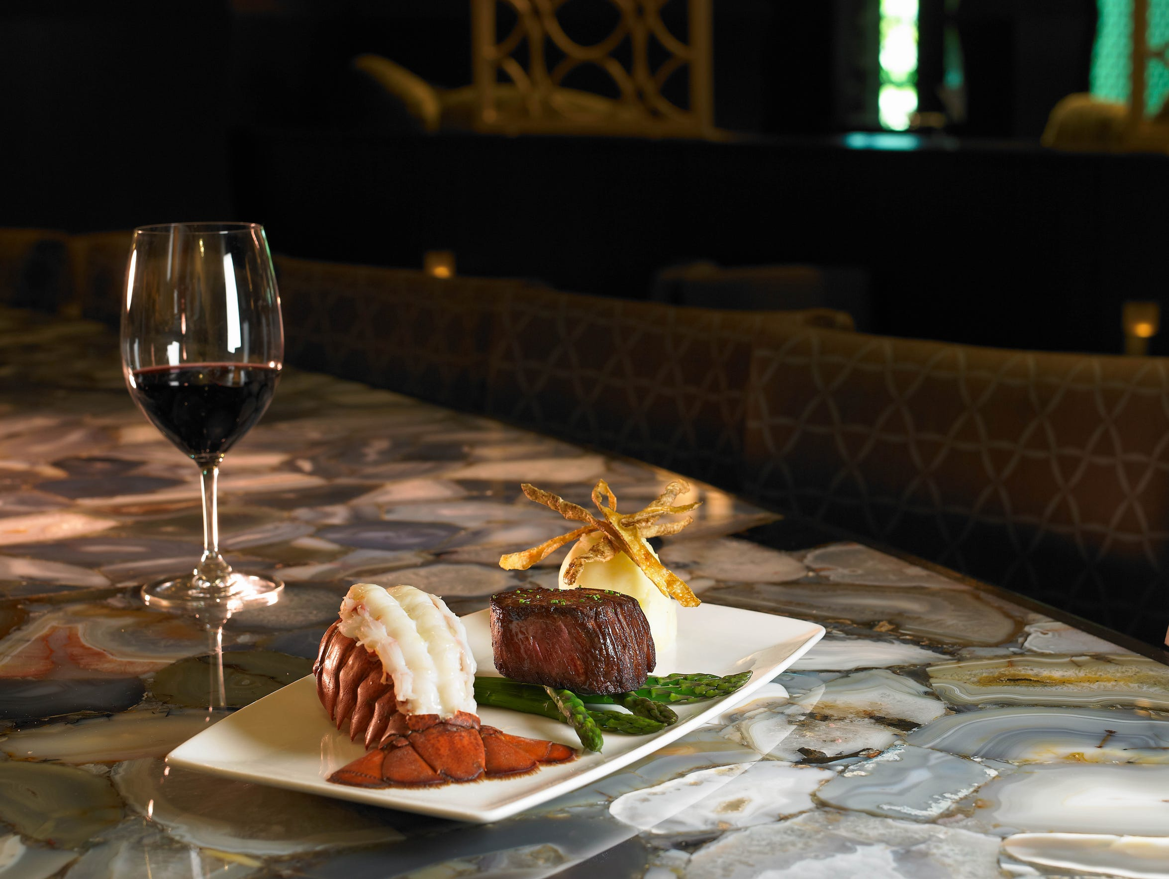Surf 'n' Turf  5 oz. filet, 5 oz. lobster tail from
