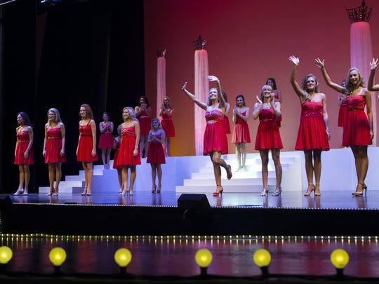 Eleven finalists headed into the final night of competition in the Miss Wisconsin Scholarship Pageant last year.