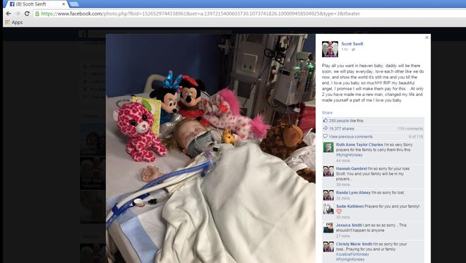 Kinsley Kinner, 2, was put on life support after being brutally beaten. Her mother and her mother's boyfriend are facing charges in the case.