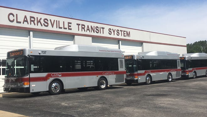 Clarksville Transit System has added three new fuel-efficient hybrid buses to its fleet, replacing three high-mileage conventional fuel vehicles.