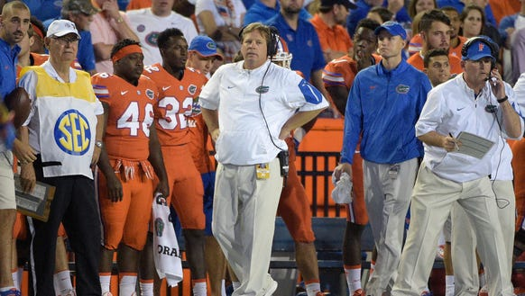 First-year Florida coach Jim McElwain has the Gators