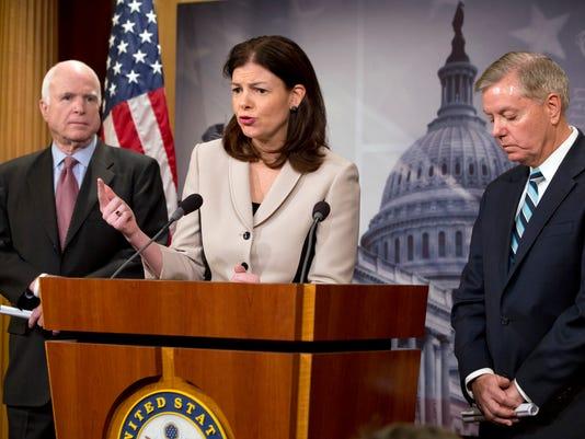 Kelly Ayotte, Lindsey Graham, John McCain