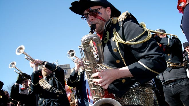 The Detroit Party Marching Band will stay busy this weekend with Crash Detroit.