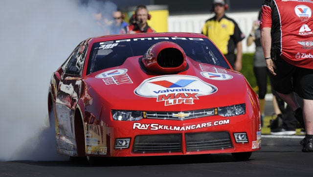Drew Skillman beat the reigning NHRA Pro Stock champion, Erica Enders-Stevens, on his way to his final-round series debut at Auto Club Raceway.