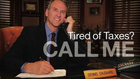 Gov. Dennis Daugaard's likeness was used in a state-funded campaign to lure businesses to South Dakota in 2011.