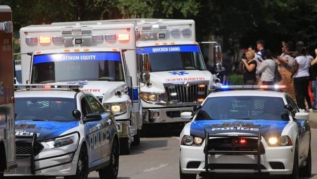 Two Detroit EMS workers were arraigned on misdemeanor aggravated assault charges.
