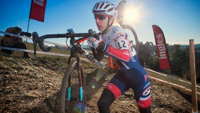 Melinda McCutcheon of Salt Lake City won the women's 30-34 division of the USA Cycling Cyclo-Cross National Championships Wednesday.
