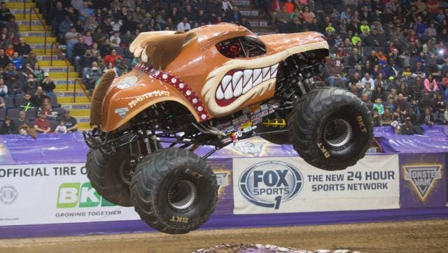 Bryce Kenny is behind the wheel of Monster Mutt when Monster Jam visits the Cajundome.