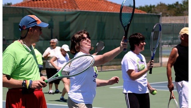The Fort Myers High School and Canterbury School tennis teams practiced against 11 Special Olympics tennis players during a sendoff party Saturday at Three Oaks Tennis Center. The athletes will compete in the Florida Summer Games May 20 and 21 in Orlando.