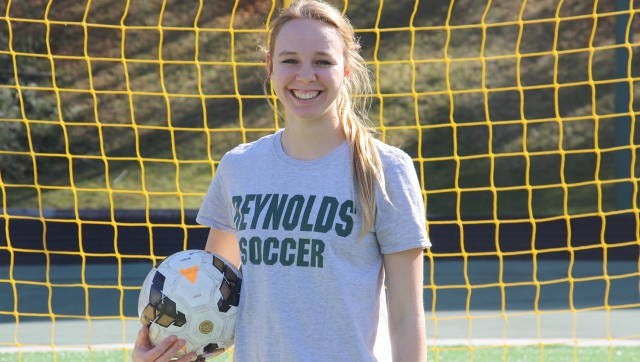 Reynolds senior Christina Shimshock is the Mountain Athletic Conference Offensive Player of the Year in girls soccer.
