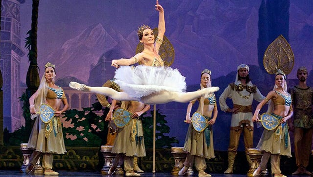 """The Russian Grand Ballet will perform """"Swan Lake"""" on Oct. 22 at the Plaza Theatre in Downtown."""