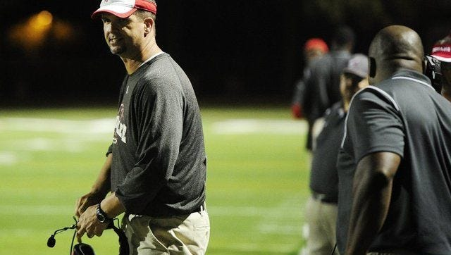 Former Estero and Immokalee football coach Rich Dombroski will be back on the sidelines this season as the head coach at the brand new Bonita Springs High School. The Bull Sharks will field a freshman team in 2017, freshman and JV squads in 2018, and a full varsity program in 2019.
