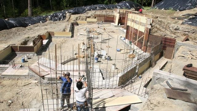 File photo of a home under construction on Bainbridge Island.