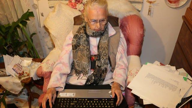 Imelda Dickinson at work.
