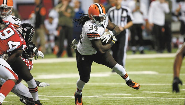 Isaiah Crowell leads the Browns in rushing touchdowns with seven.