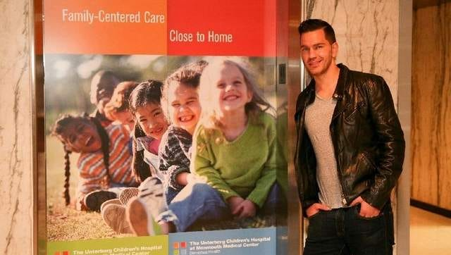 Andy Grammer visits The Unterberg Childrens Hospital at Monmouth Medical Center. /