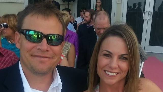 Former FSU outfielder Jeremy Morris with wife Michelle.