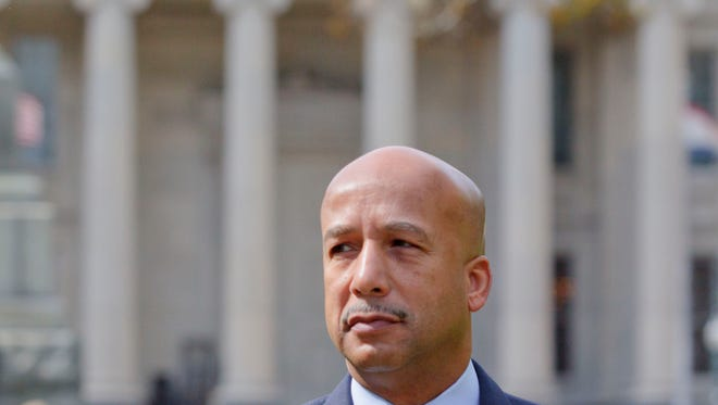 Former New Orleans mayor Ray Nagin arrives at the Hale Boggs Federal Building and U.S. District Courthouse to appear in federal court for an arraignment on public corruption charges in New Orleans on Feb. 20, 2013.