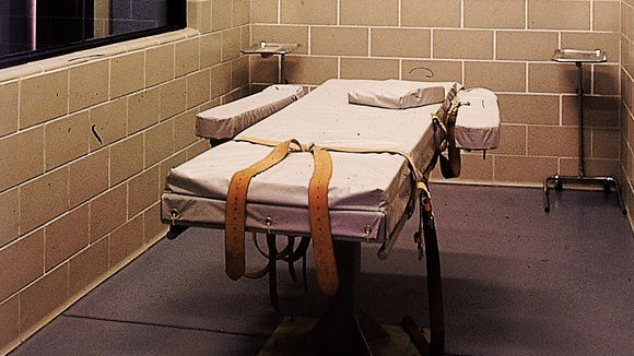 Lethal injection room at Arizona state prison at Florence.