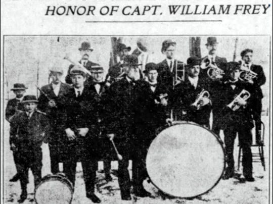 Reunion at Hallam Today in Honor of Capt. William Frey (Photo in the February 12, 1910, issue of The York Daily)