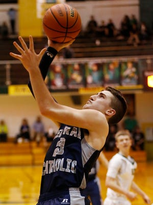 Jonah Switzer scored a game-high 27 points for Central Catholic on Friday.