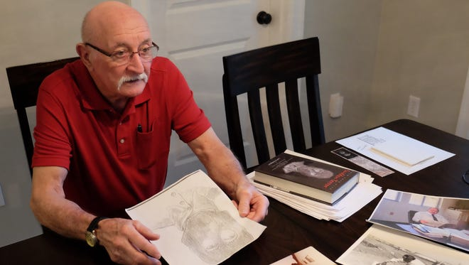 Larry Crompton photographed at his Salem home. Crompton worked in the Contra Costa County Sheriff's office during the investigation of the East Area Rapist, later known as the Golden State Killer. Crompton later wrote a book about the serial killer.