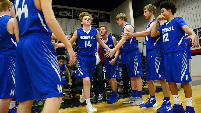 Kevin Silver (14) and McDowell are 8-0 after Tuesday night's win at Roberson.