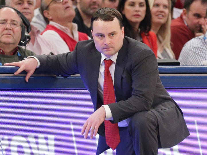 Hoosiers head coach Archie Miller watches during the