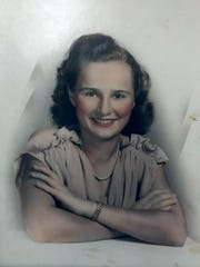 Helen Barnes Harney, mother of FLORIDA TODAY journalist Britt Kennerly, in a photo from the late 1940s.
