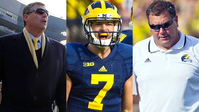 The principal players in the Michigan football controversy.