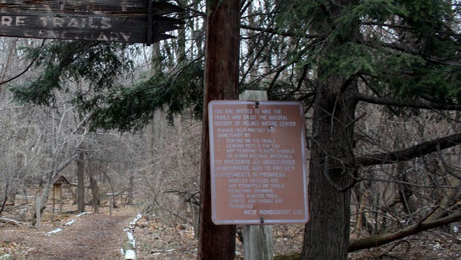 The main trail at Helmer Nature Center is located on Rochester's east side.