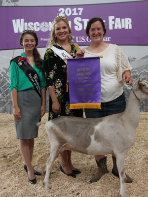 the Supreme Champion Showperson was 19-year-old Esther Considine (right) of Columbia County.