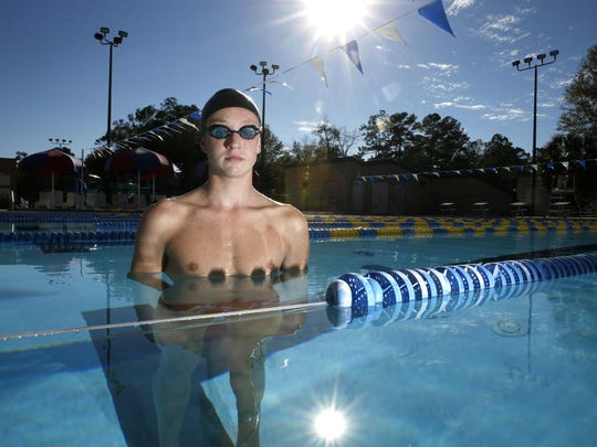 The 2015 All-Big Bend Swimmer of the Year for boys swimming is Chiles sophomore John Yambor-Maul.