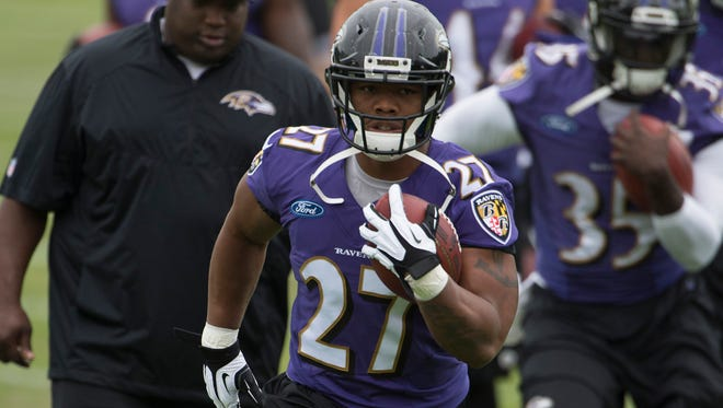 RB Ray Rice played six seasons for the Ravens before being cut Sept. 8.