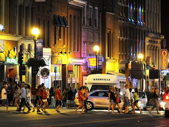 Lower Broadway is fun anytime, with more than 14 honky-tonks.