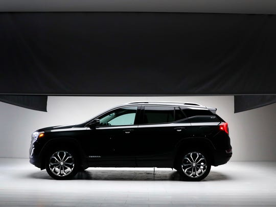 The 2018 GMC Terrain makes its debut before the North