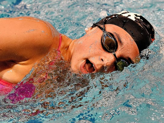 West York senior Courtney Harnish won the PIAA Class 2-A 200 freestyle on Thursday by nearly six seconds.
