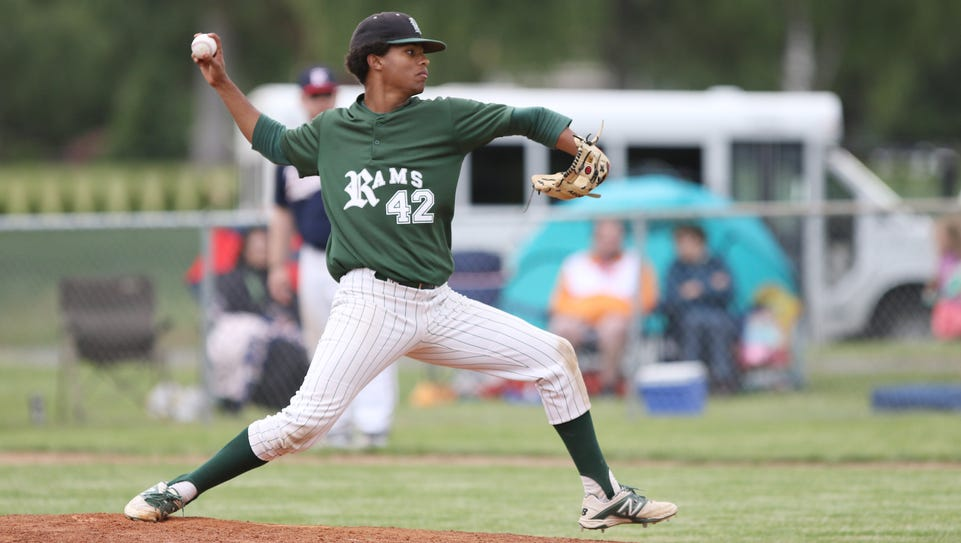 Regis's JaVon Logan pitches as the Rams fall to Kennedy
