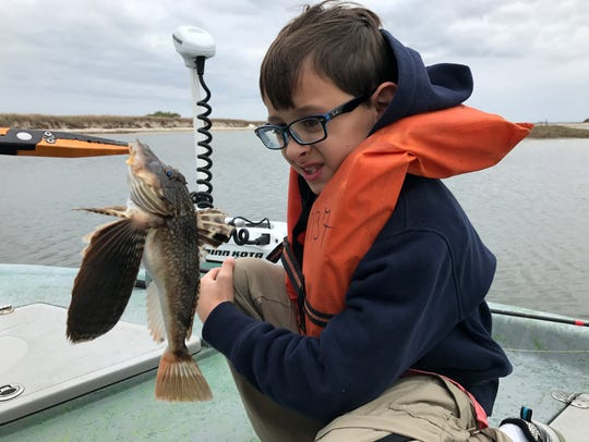 This sea robin caught by Damien Pyles, 9, provided