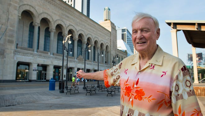 Pinky Kravitz shows off the Atlantic City Convention Hall on July 1. It is the home to many Miss America pageants.