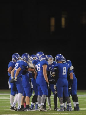 Sioux Falls Christian vs. Belle Fourche at Bob Young Field on Thursday, Oct. 29, 2015.