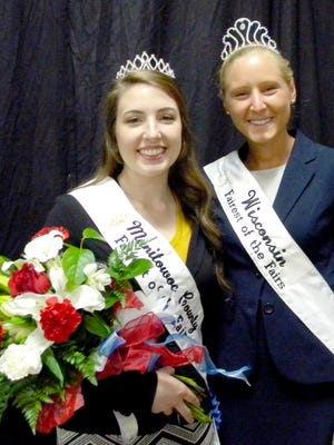 Emily Hutterer (left) has been selected as 2018 Manitowoc County Fairest of the Fair.