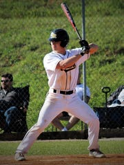Former Mountain Home Bomber Matt Robbins bats for Three