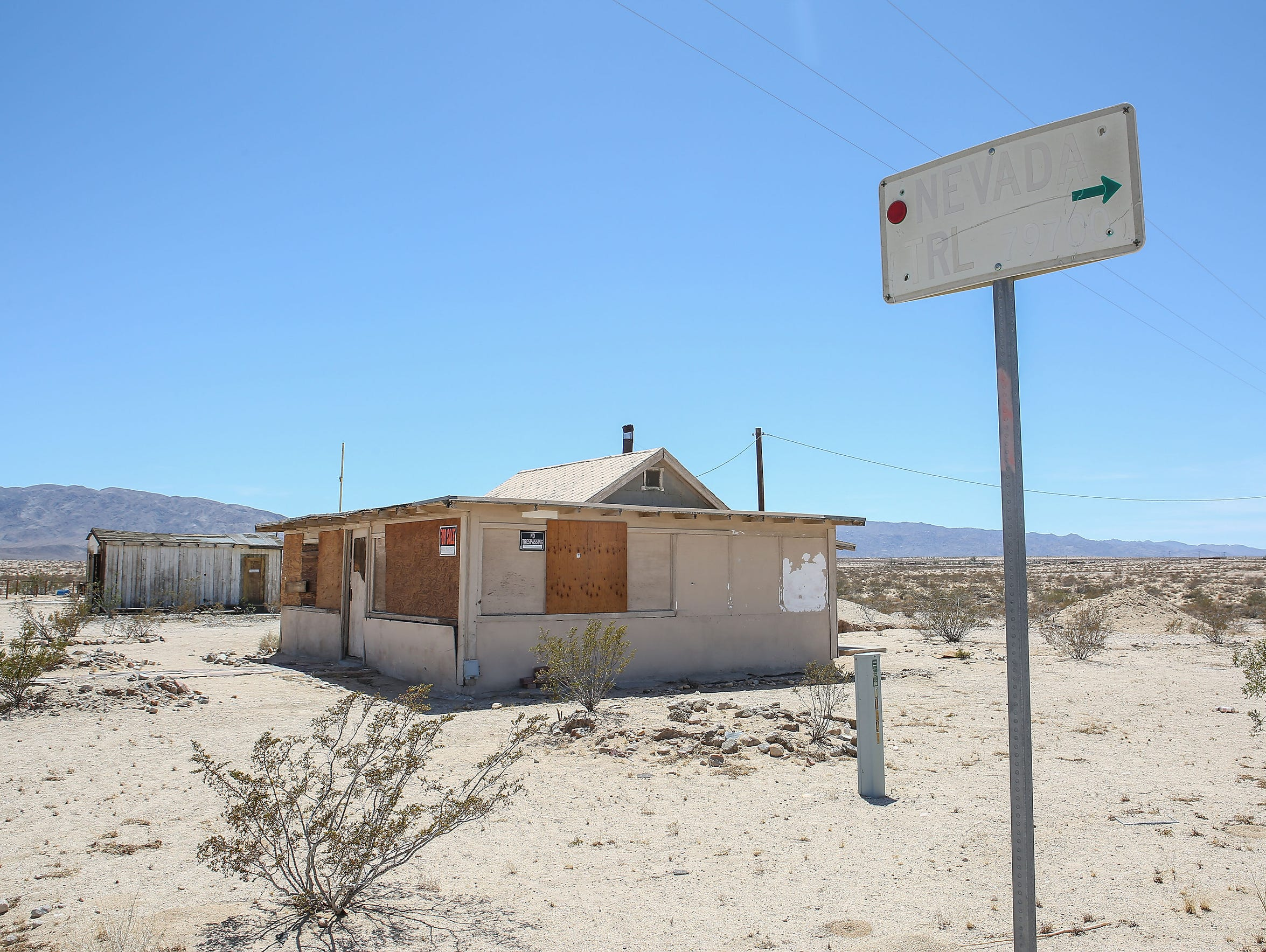 An old property is for sale in Wonder Valley.