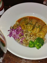 Stuffed cabbage with spaetzle is another traditional item on the menu.