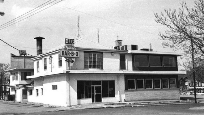 This photo, circa 1974, shows the first full-service location of Big John's Bar-B-Q, at Monson Street and Glendale Avenue. In 1979, in a deal with the city to make room for the incoming University of Illinois College of Medicine at Peoria, the restaurant was razed, with the eatery relocated nearby on the then-new Kumpf Boulevard.