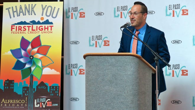 Ryan Lympus, assistant general manager of El Paso Live, announced the lineup for the 2016 edition of Alfresco! Fridays during a news conference on Wednesday. The Downtown free live music series is set to return from May 6 through Sept. 30.