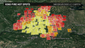 King Fire activity in the last 24 hours (Tuesday to Wednesday morning)